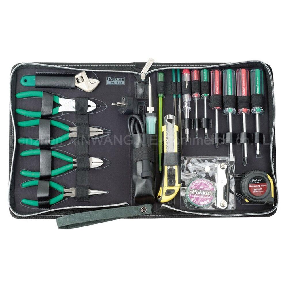 Pro'skit 1PK-618B Kit d'outils de réparation d'électricien électronique appareils électriques groupe d'entretien ménager ensemble d'outils sac