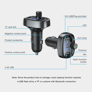 Image 5 - Baseus LCD Display FM Transmitter Car Charger Dual USB Phone Charger Handsfree Bluetooth MP3 Player,born to listen music in car