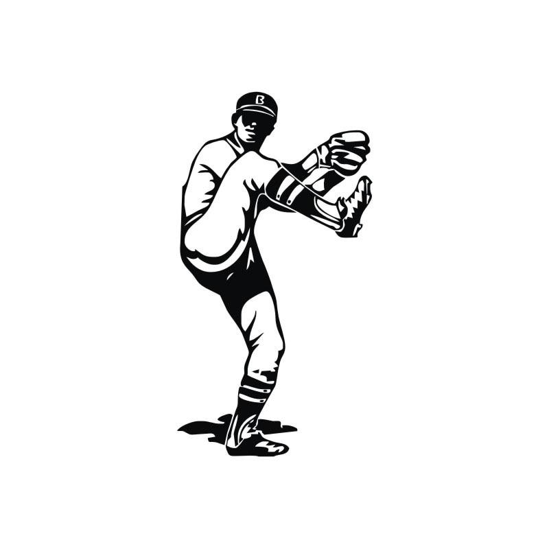 Lanzador de béisbol pierna aire Adhesivos de pared Decoración para ...
