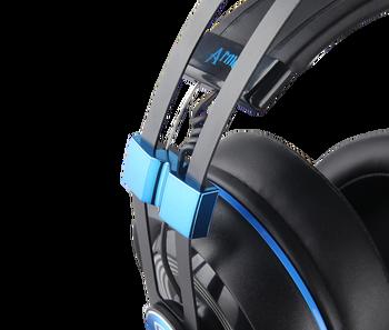 SADES Armor USB Gaming Headset Realtek Gaming Audio Lightweight RGB Lighting Noise-cancellation For PC 3