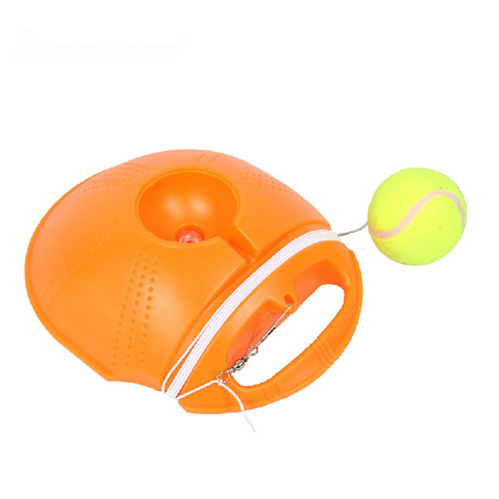 Heavy Duty Tennis Training Tool Exercise Tennis Ball Sport Self-study Rebound Ball With Tennis Trainer Baseboard Sparring Device