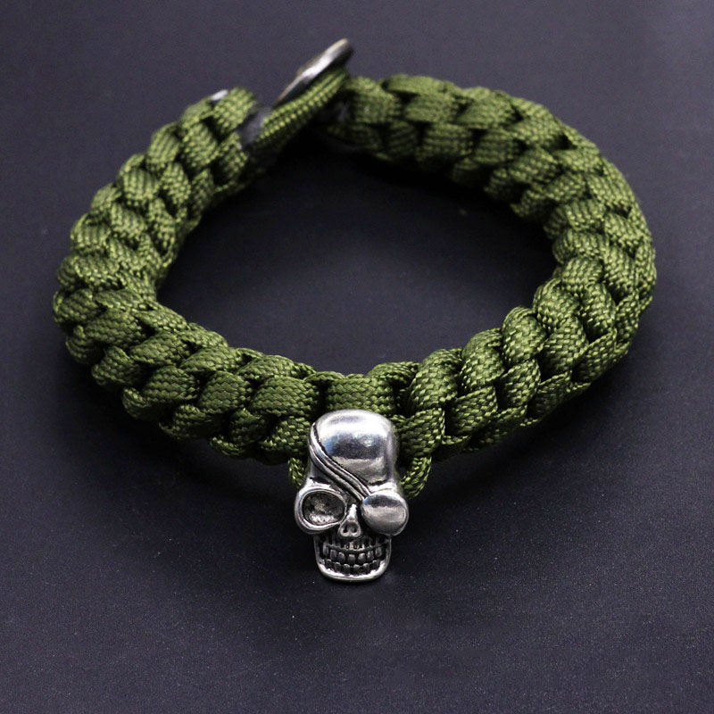 Outdoor Self Defense Camping Rescue Paracord Bracelets Parachute Cord Men Bracelet Emergency Rope Survival Buckle Braided Chain