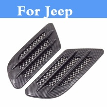 Car Styling 19D Shark gill Side Air Vent Fender Cover Sticker For Jeep Liberty Renegade Wrangler Commander