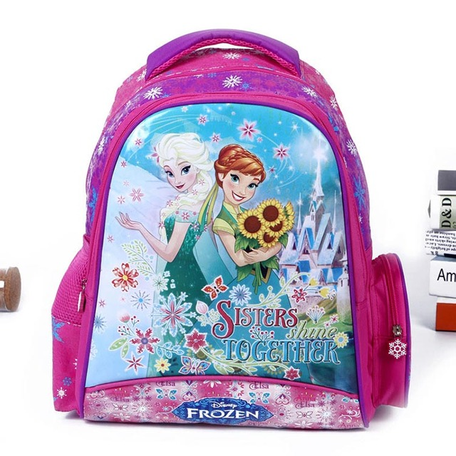 e98893f984 High Quality Princess School Bags for Girls Boys Children Backpacks Primary  Students Backpack Elsa Anna Schoolbag