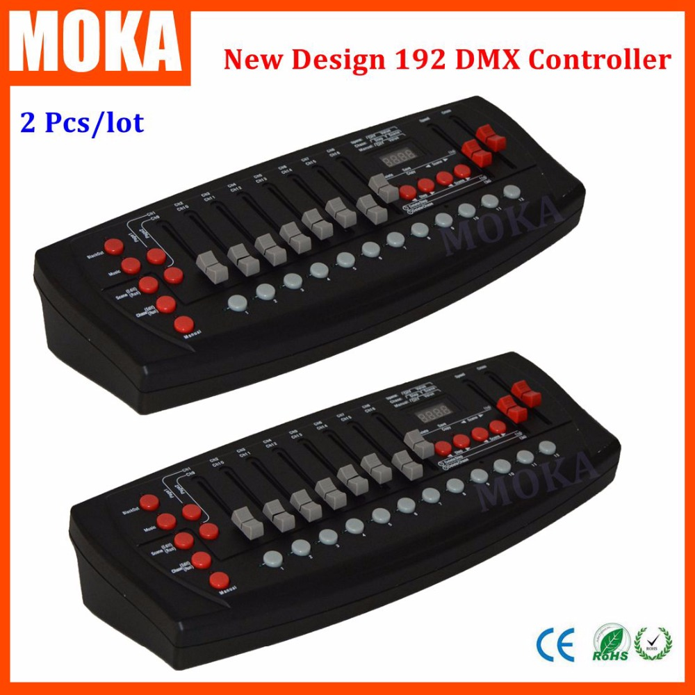2 Pc/lot new 192 DMX controller DMX 192 mini stone controller 192 dmx control for stage dmx console light moving head light tiptop mini pearl 1024 dmx controller for moving head light dmx lighting controller with fase wave dmx controller new arrival