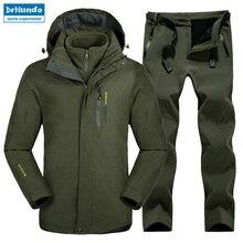 Plus Size Men Skiing Ski-wear Waterproof Hiking Outdoor jacket Snowboard jacket Ski suit men Large Size Snow jackets