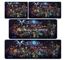 best Heroes of the Storm mouse pad gear Heroes game pad to mouse notebook computer mouse mat brand gaming mousepad gamer laptop(China)