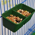 1PC Hamsters Bird Multifunction 2linked Manger Boxes Small Animals Pet Cage Appliances Eating Drinking Supporting Equipment