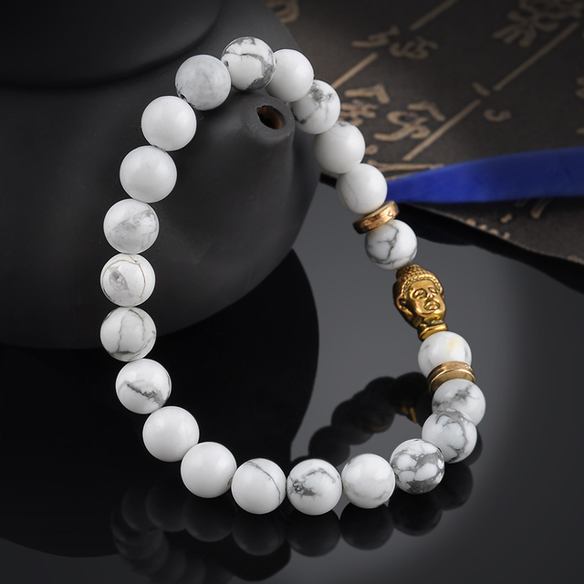 Howlite Mala Bracelet 1