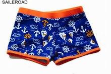 3daedfdb37 SAILEROAD 2-10Years Baby Kids Meninos Swim Wear Roupas Beachwear Cuecas  Boxer das Crianças Meninos Sunga Menino Recém-nascidos