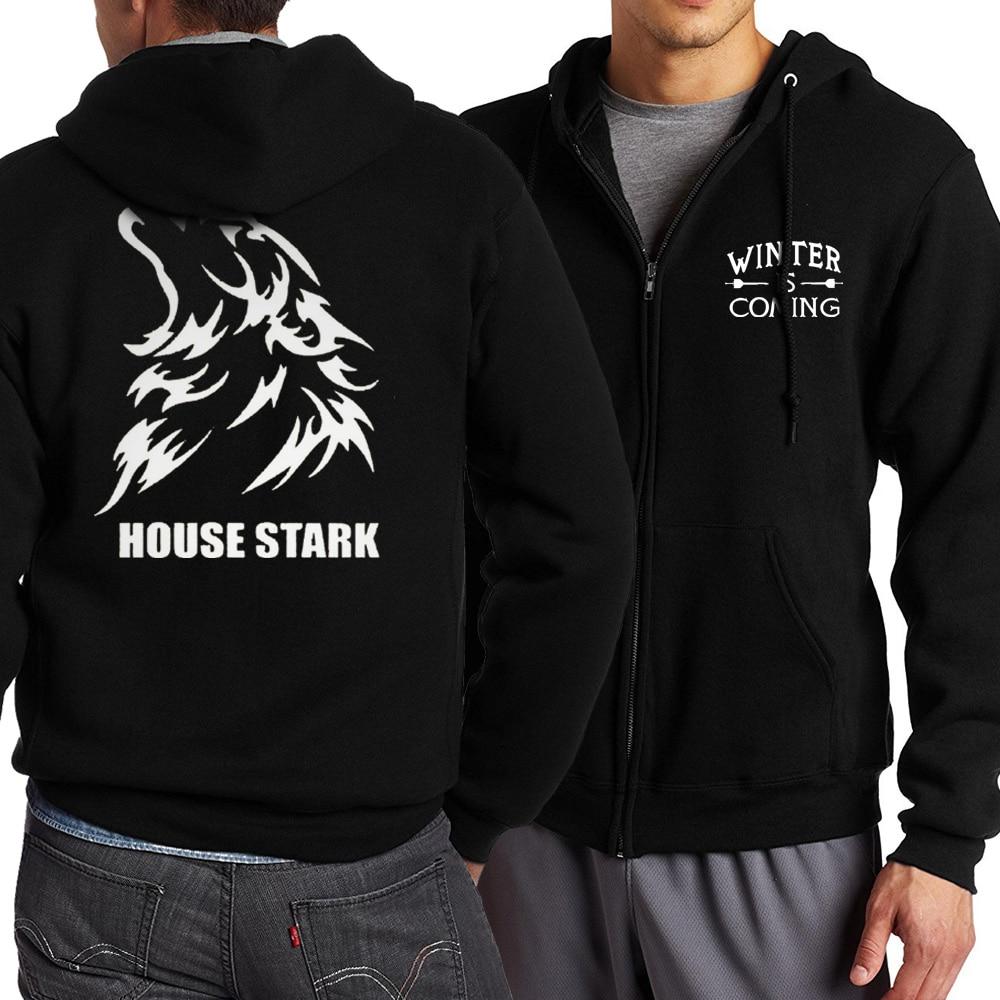Game of Thrones Zipper Dragon Wolf Cool Printing Zipper Hoodies Hoodie Man Fleece Warm Spring Autumn Tracksuit Casual Sportswear 4