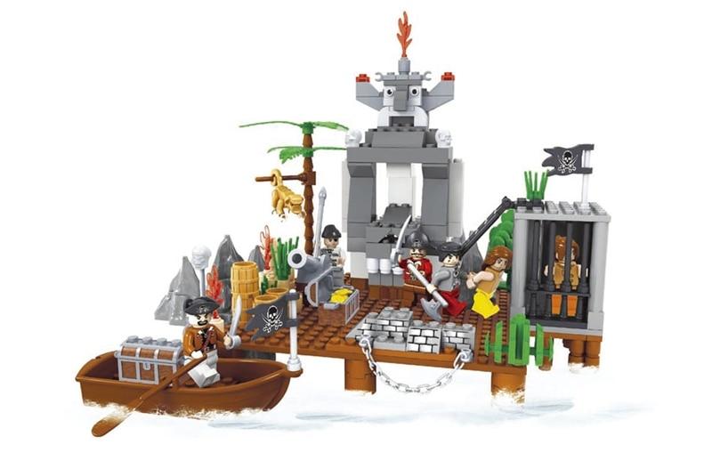 Ausini model building kits compatible with lego city pirate 662 3D blocks Educational model & building toys hobbies for children Blocks     - title=