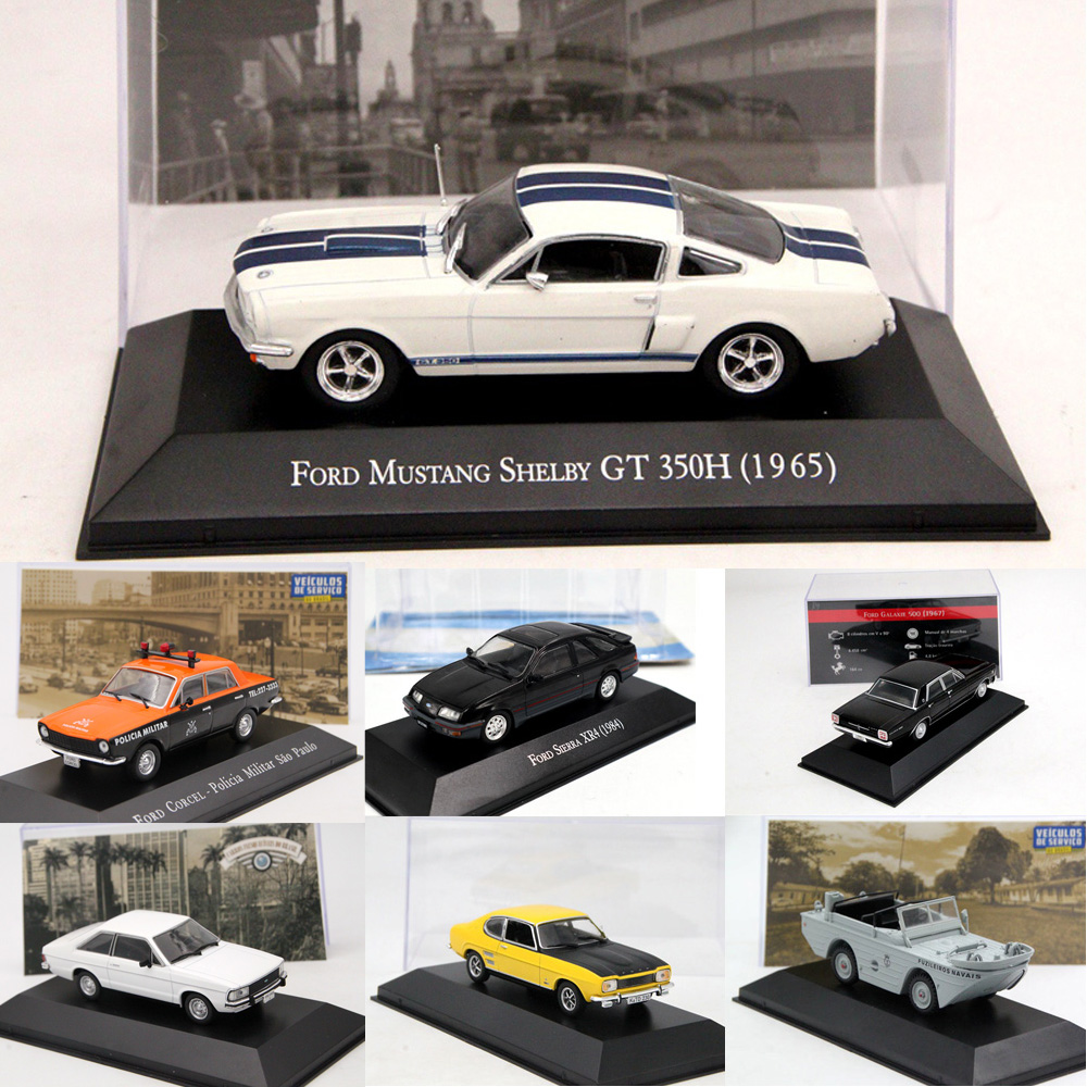 1:43 Altaya IXO Corgi Ford Mustang/Corcel/Pampa/Sierra XR4/Escort XR3/Fiesta/GPA Marinha/F75/Galaxie Diecast Models Toy Cars
