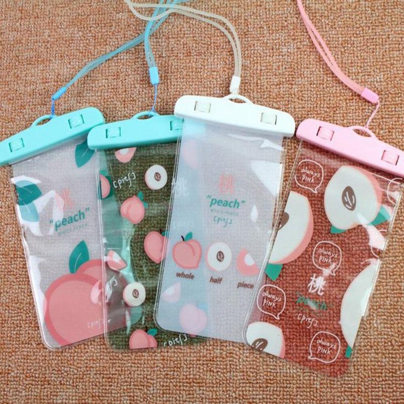 1 Pcs Hot Sale Peach Swimming Bags Waterproof Bag Underwater Pouch Phone Case for Phone Paper Document Bag Filing Products
