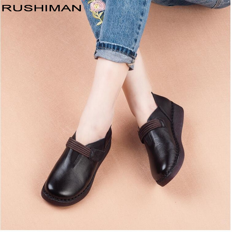 2018 new style comfortable Women Flats retro handmade Genuine Leather flat womens shoes pregnant women Driving Shoes2018 new style comfortable Women Flats retro handmade Genuine Leather flat womens shoes pregnant women Driving Shoes