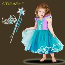 Летняя одежда для маленьких девочек милое пляжное платье-пачка Русалочки с вуалью для маленьких От 1 до 2 лет на день рождения Бальные платья...
