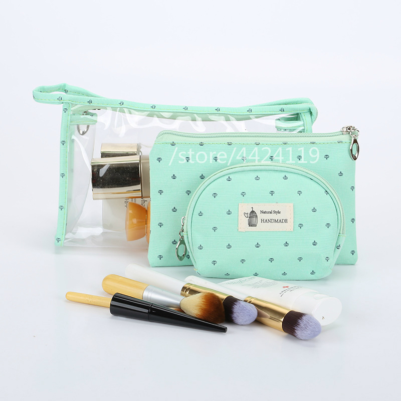 Us 7 93 11 Off Pvc Transpa Cosmetic Bag Travel Toiletry Set Pink Makeup Organizer Pouch Case Beauty Necessary Trip Women In