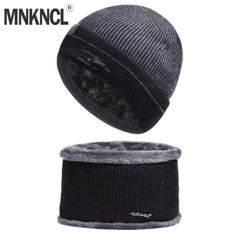 MNKNCL Winter Hat   Skullies     Beanies   Hat Winter   Beanies   For Men Women Wool Scarf Cap Balaclava Mask Gorras Bonnet Knitted Hats