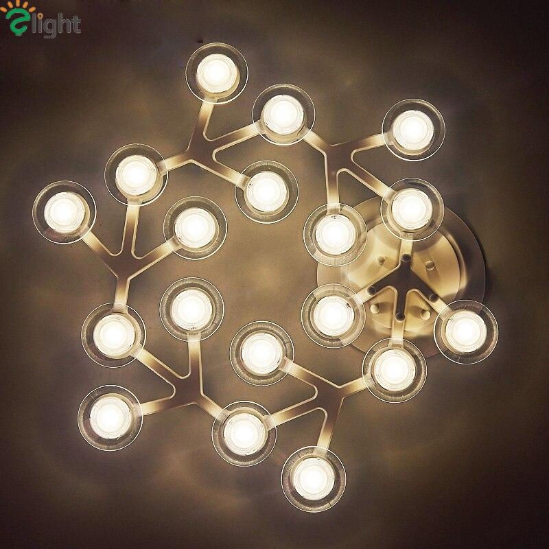 Современная Новинка вращающийся металлический светодиодные светильники потолочные блеск акрил Спальня светодиодный потолочный светильн