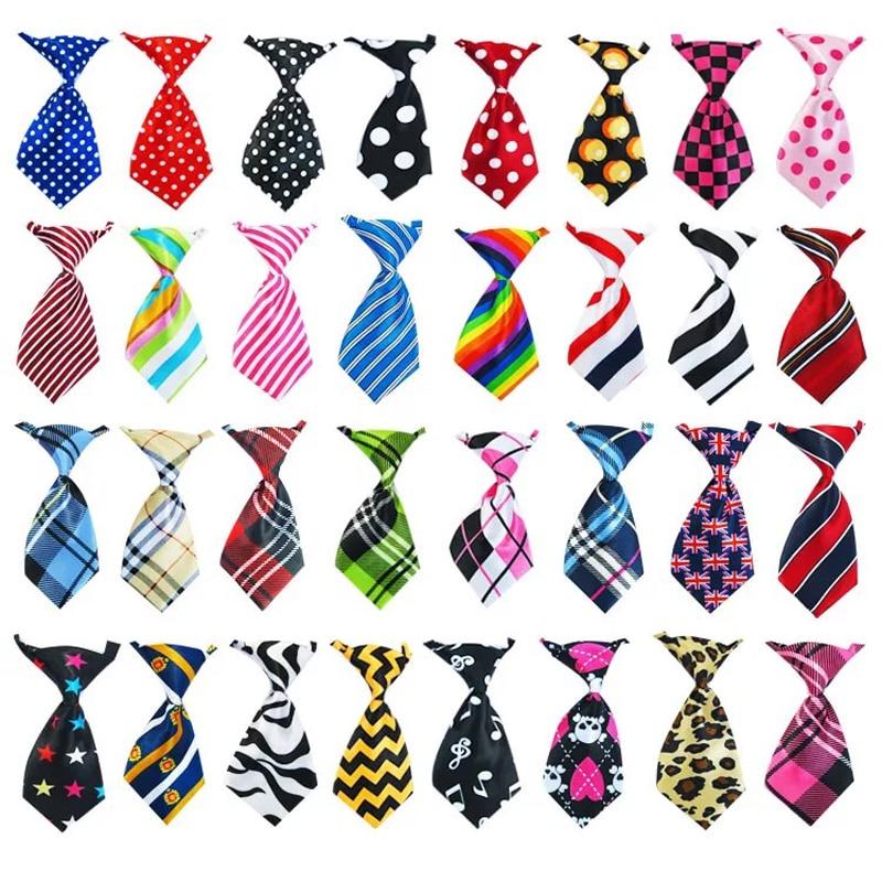 50/100 Pcs/lot Mix Colors Pet Cat Dog Tie Grooming Accessories Adjustable Puppy Rabbit Bow Tie Products Pet Bowtie Supplies