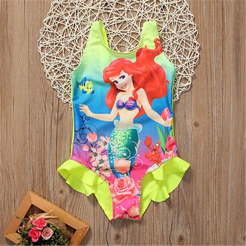 Kids Baby Girls Toddler Ariel Swimsuit Swimwear Bathing Suit Bikini Tankini Set(China)
