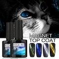 ROSALIND 10ML Cat Eyes Finish Gel Polish UV Top Coat Chameleon Magnet UV Nail Gel Polish Hot 6 Style Magnetic Top Coat