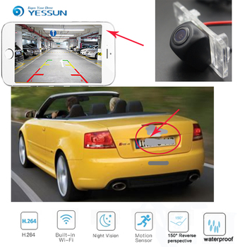 YESSUN for Audi RS4 Avant Quattro for Audi RS4 Carbriolet 2006~2008 New Arrival! wireless connection car reversing HD camera