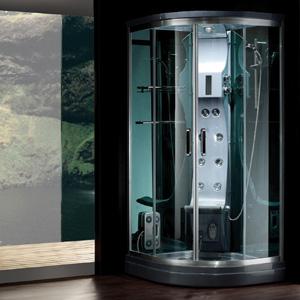 Coin de mur de luxe de douche à vapeur salle de bains à vapeur ...