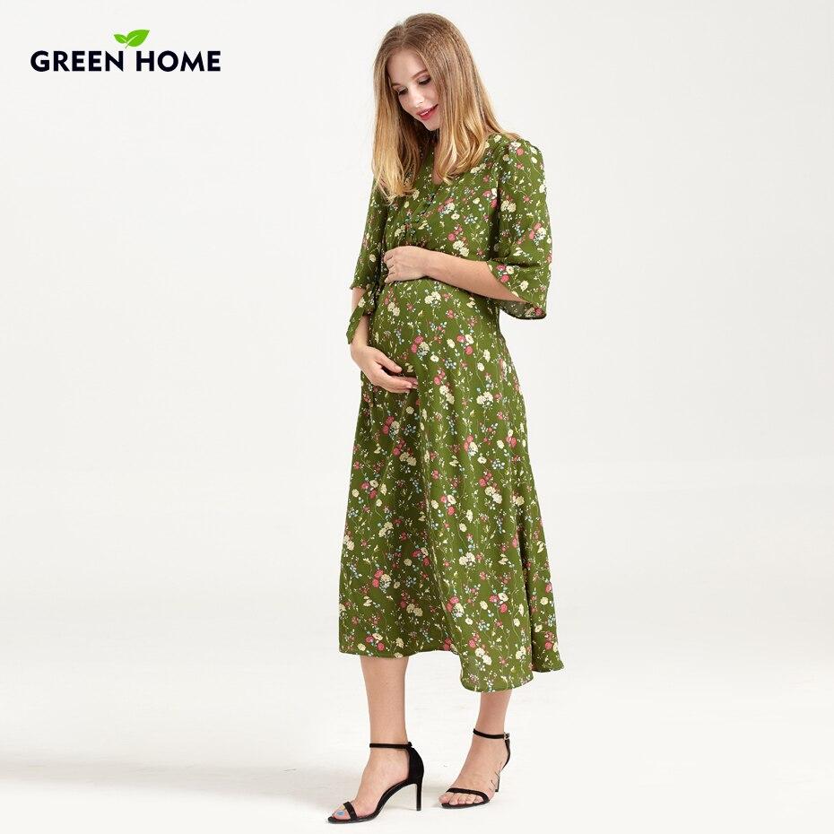 Green Home Winter Maternity Dresses for Pregnant Women ...