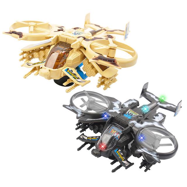 1 unids aviones de combate aviones de combate 1:24 niños flashing música eléctrica muchachos de los niños de plástico rompecabezas música toys
