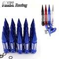 AMK-RacingP1.5 * 20 Peças 326 K Poder Pausa Liga de Alumínio 90 MM Roda Lug Nut Com Spikes Prolongado Tuner Wheels aros Spikes