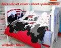 ¡ Promoción! 6/7 UNIDS de Mickey Mouse Del Bebé cama cuna pieza set juego de cama ropa de cama de bebé, 120*60/120*70 cm