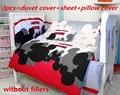 Promoção! 6/7 PCS de Mickey Mouse Do Bebê cama conjunto peça berço cama conjunto fundamento do bebê, 120*60/120*70 cm