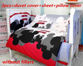 Promotion! 6/7PCS Mickey Mouse Baby bed crib piece set bedding set baby bedding ,120*60/120*70cm