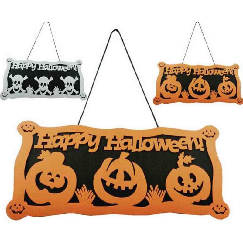 happy halloween vintage home decor bar door decoration welcome sign plate slogan ghost horror halloween decorative - Halloween Slogans