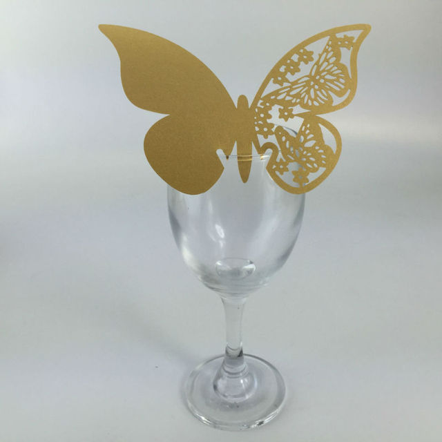 50pcs Angel Wine Glass Card Escort Cup Card Table Decorations For