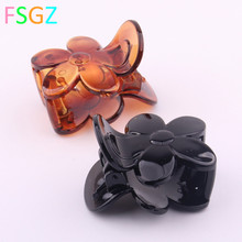 Fashion Crab For Hair High Quality ABS Plastic Clips Girls Mini Hairpin Fringe Transparent Champagne Jewelry