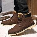 4 Colores Botas de Invierno de Los Hombres Zapatos de Piel del Tobillo Botas Los Hombres Zapatos de Invierno Hombres de Cuero Botas de Nieve Chaussure Homme Artifitical