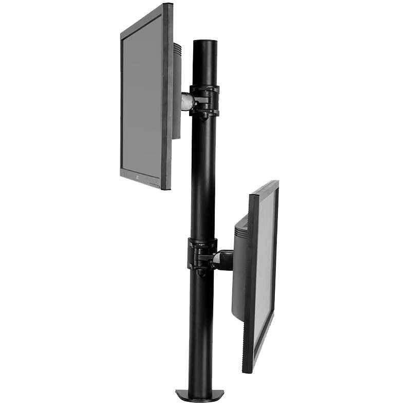 """Desktop Dual Monitor Komputer Mount Berdiri Vertikal Array untuk Dua Layar Bracket Cocok untuk 10 """"-30"""", dukungan MAX 10Kg Per Lengan"""