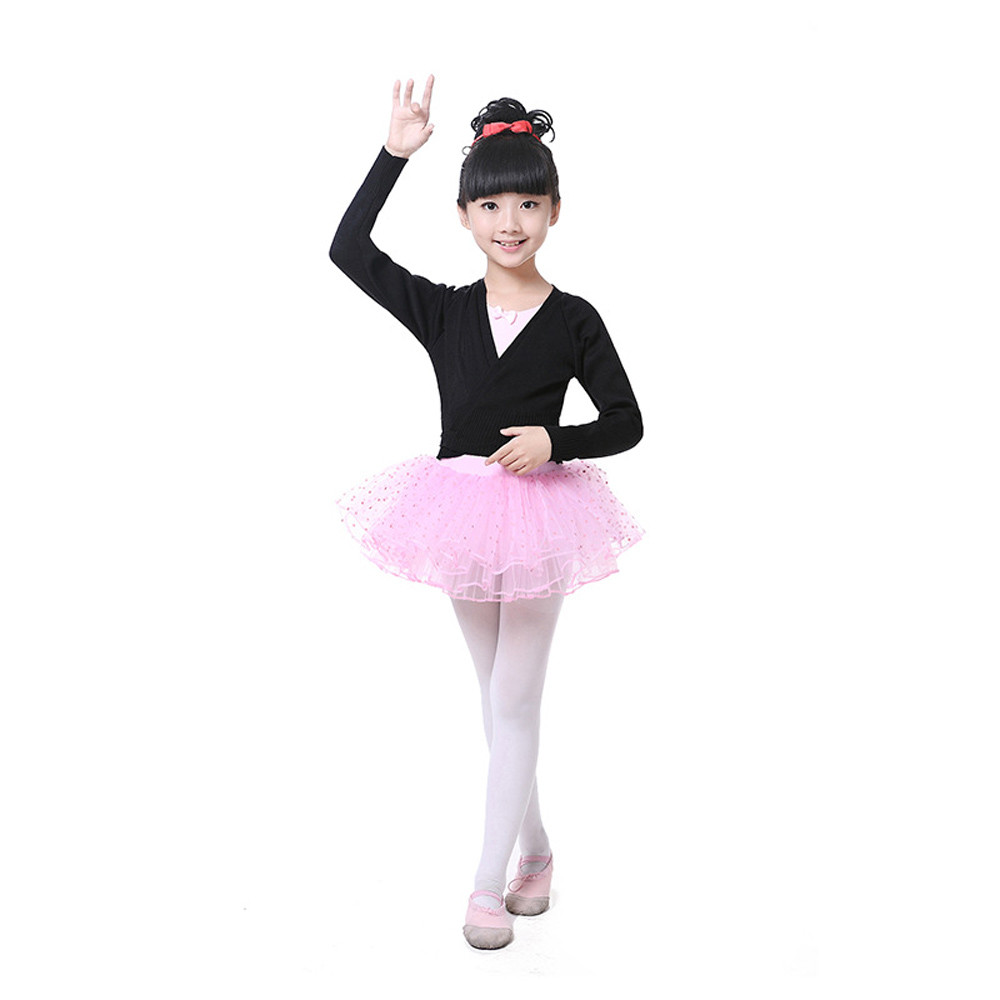 bbd53620c5b2 May baby  5001 Kids Girls Dance Ballet Training Dancewear Knitted ...