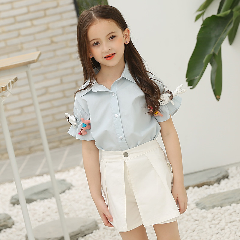 2017 Fashion Teenage Girls Clothing Set for Teen Girl Children Summer Blouses+Skirt Pants 12 13 14 Kids Clothes 2pcs Sets FC002 teenage girls clothes sets camouflage kids suit fashion costume boys clothing set tracksuits for girl 6 12 years coat pants