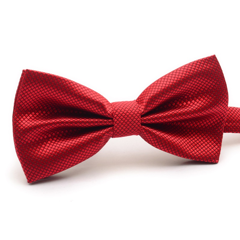 HOOYI 2019 Men Bow Ties Fashion Polyester Tie Gravata Solid Color Necktie Preted Bowtie Cheap Butterfly