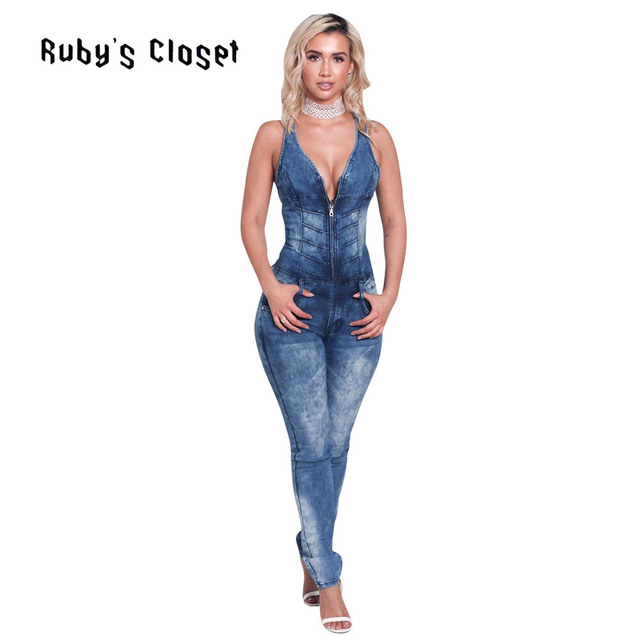 252dc91ac689 Women fashion jumpsuits hot selling deep V neck back hollow out sleeveless  sexy ladies rompers zippers pockets jumpsuit SN-S3158