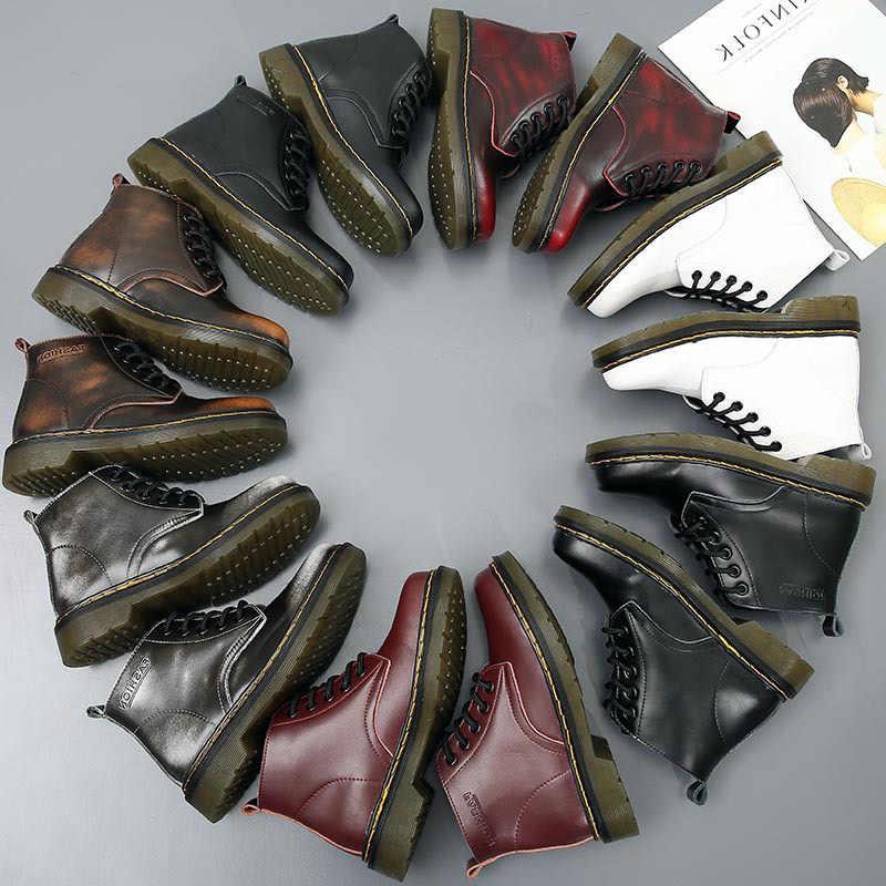 SONDR mắt cá chân Giày bottes Femme 2019 Nouveau nền tảng phối ren stivaletti Donna đen đỏ trắng Giày Người phụ nữ Retro zapatos de mujer