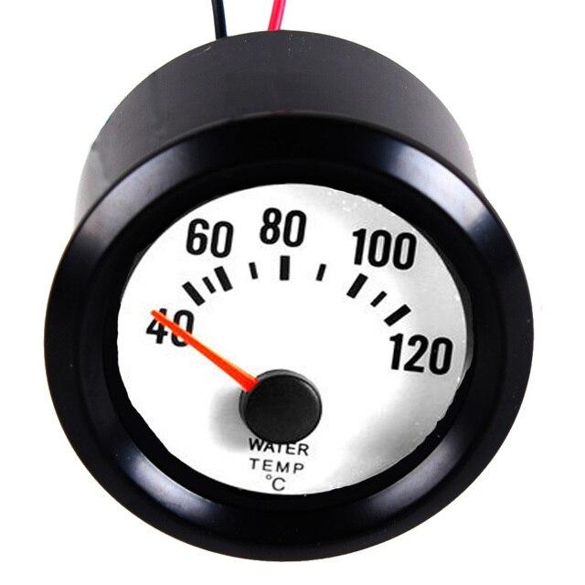 """EE поддержки Новый Черный Корпус Белый Циферблат 2 """"52 мм Авто Температура Воды Датчик Температуры По Цельсию Метр XY01"""