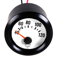 New Black Shell White Dial 2 52mm Car Water Temp Temperature Celsius Gauge Meter