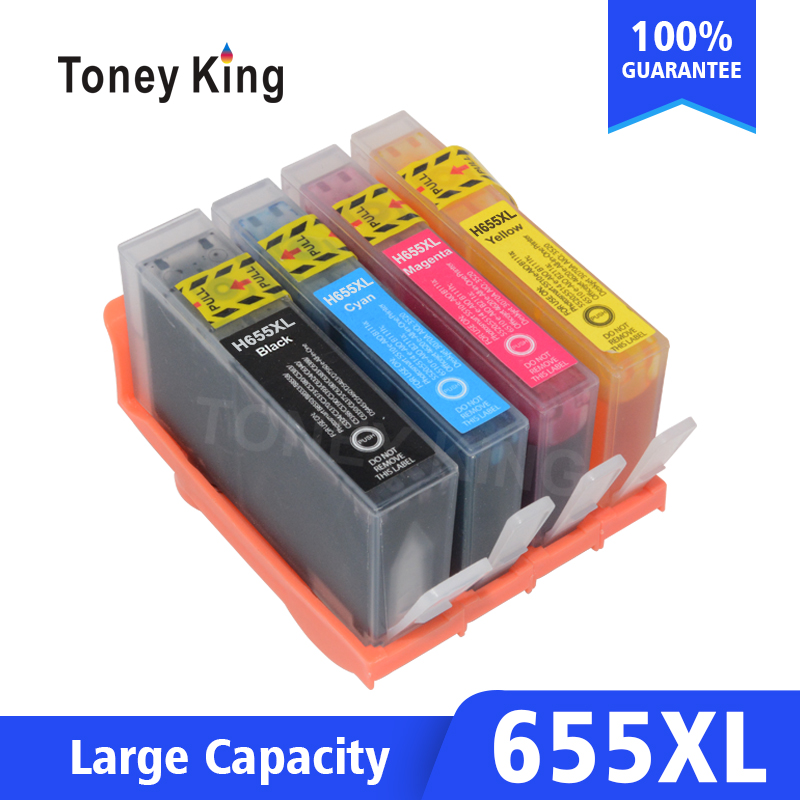 Compatible For HP 655 For HP655 C M Y BK Ink Cartridge For HP Deskjet 3525 4615 4625 5525 6520 6525 6625 Printer with chip image