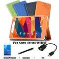 Proteção Shell / pele PU capa de couro protetora T8 T8 T8S plus 8 '' Tablet PC caso dormência T8