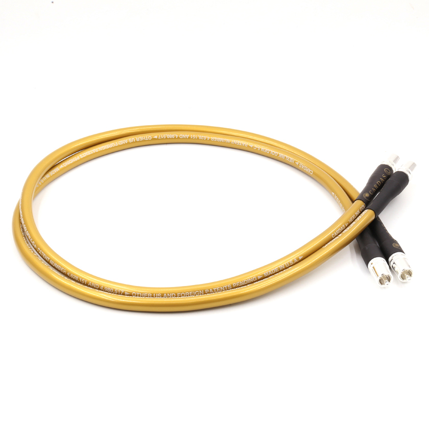 Cardas HEXLINK GOLDEN RCA interconnect cable 1.5m free shipping pair 1m cardas hexlink golden 5 rca interconnect audio cable cardas cable