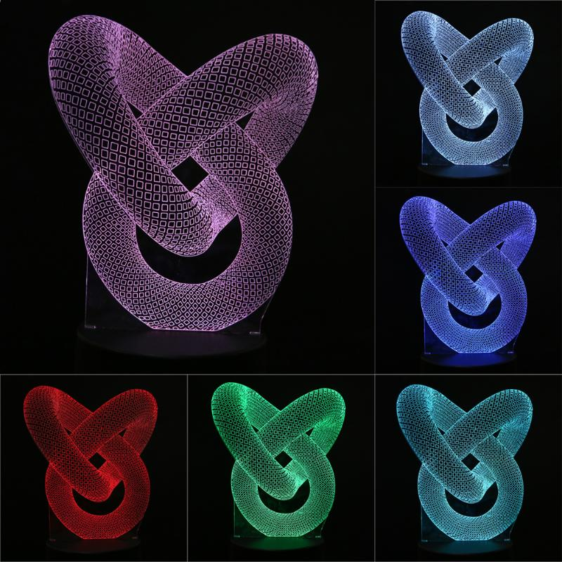 7 Color Creative 3D illusion Lamp LED Night Lights 3D Football Discoloration Colorful Atmosphere Lamp Novelty LED Night Lights image